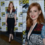 Jessica Chastain  in Preen at Crimson Peak Panel at Comic Con in San Diego