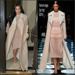 Kim Kardashian West  in  Balenciaga  – Out In London