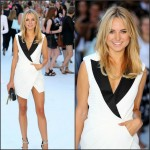 Kimberley Garner  in tuxedo suit at  Magic Mike XXL Premiere in London