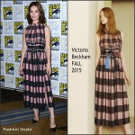 Lily James In Victoria, Victoria Beckham -'Pride and Prejudice and Zombies' Panel