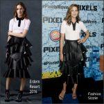 Michelle Monaghan In Erdem at  'Pixels' New York Premiere
