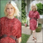 Michelle Williams In Louis Vuitton  at  Galerie Opening