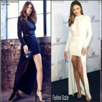 Miranda Kerr in Halston Heritage at the Swarovski New Collection Launch