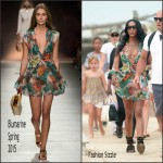 Naomi Campbell In Blumarine – Out In St. Tropez