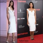 Naomie Harris In Cushnie et Ochs at 'Southpaw' New York Premiere