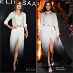 Nieves Alvarez  in Elie Saab at  Elie Saab  Fall/Winter 2015/2016 Show