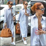 Rihanna in  Celine –  Out in New York
