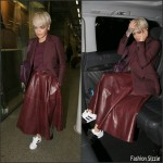 Rita Ora at King's Cross Railway Station in London