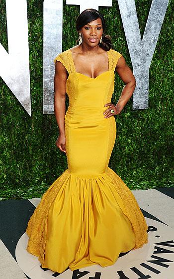 Serena-williams-2012- Vanity -Fair -Oscar=- Party Hosted By Graydon Carter - Arrivals