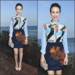 Taissa Farmiga in MSGM  Just Jared Dinner Party in Malibu
