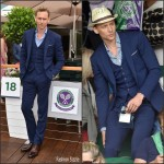 Tom Hiddleston  in Ralph Lauren   – Wimbledon Tennis Championships at Wimbledon