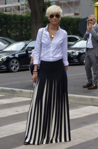 Fashion Sizzler of The Day  :  Esther Quek in Milan Italy