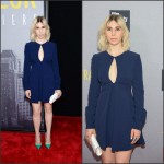 Zosia Mamet In Jill Stuart  at  'Trainwreck' New York Premiere