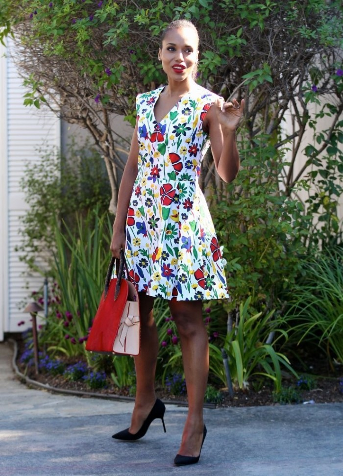 -Kerry-Washingtons-Jennifer-Kleins-Day-Of-Indulgence-Summer-Party-Suno-Pre-Fall-2015-Floral-Dress