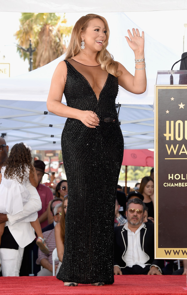 -Mariah-Careys-Hollywood-Walk-of-Fame-Yousef-Aljasmi-Black-Sequined-Gown