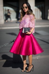 FASHION SIZZLER OF THE DAY :  Aimee  Song at Paris Fashion Week