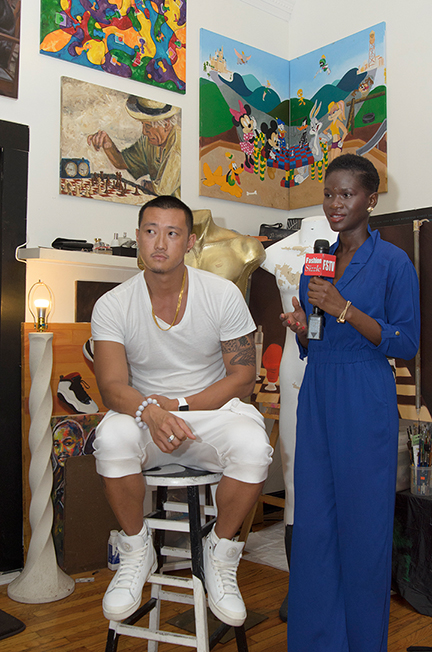 Fashion Sizzle TV's Host, Angel interviews Carlos Con Long