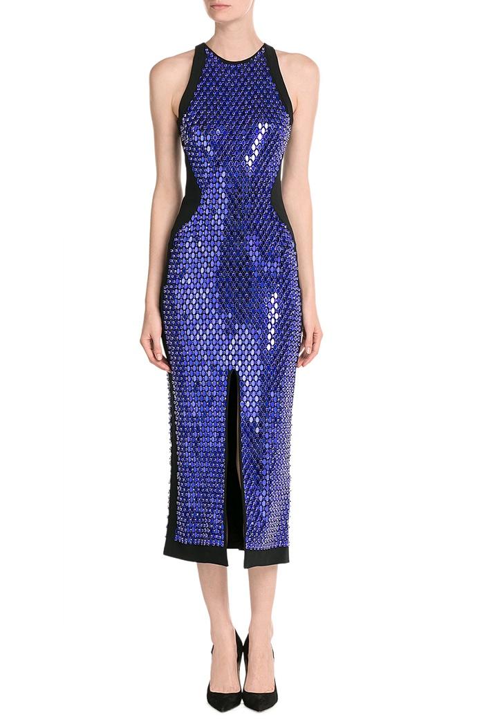 David-Koma-Sequin-Embellished-Dress