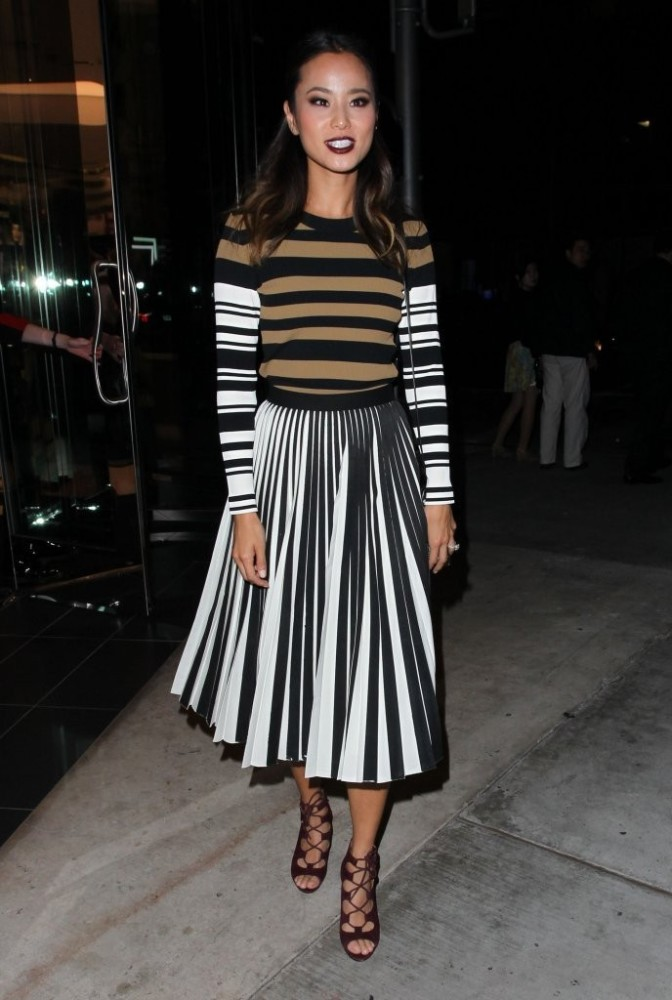 Jamie-Chung-Jamie-Chung-Leaves-Sephora-Beverly-givenchy-sweater-proenza-skirt-2-672×1000