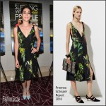 Lizzy Caplan In Proenza Schouler  At  'Sleeping With Other People' LA Screening
