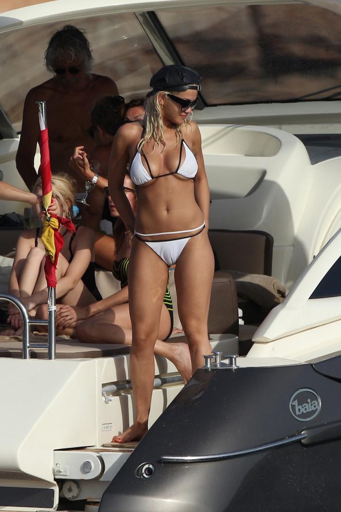 Rita- Ora- in- Bikini – On a -Yacht -in -Ibiza-August -2015