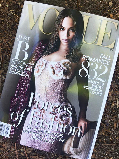 BEYONCE  COVERS VOGUE  SEPTEMBER 2015
