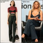 Chrissy Teigen In Alessandra Rich  at The Fab Life TCA Panel