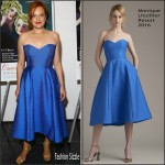 Elisabeth Moss In Monique Lhuillier At 'Queen Of Earth' New York Premiere