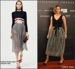 Emma Watson In Christopher Kane  At 'Regression' Madrid Photocall