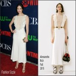 Emmy Rossum In Alessandra Rich  at CBS' 2015 Summer TCA Party