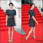 Gemma Arterton In Saloni at 'Gemma Bovery' London Premiere