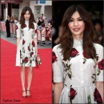Gemma Chan In Dolce & Gabbana  At 'The Bad Education Movie' London Premiere