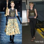 Greta Gerwig In Marc Jacobs at BUILD Series AOL Studios