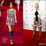 Gwen Stefani In Elisabetta Franchi & Dolce & Gabbana  At 'The Voice' Press Conference