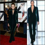Hannah Ware in Cushnie et Ochs  at the 'Hitman Agent 47' New York  Premiere