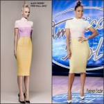 Jennifer Lopez in Alex Perry at the American Idol XV Arkansas Auditions