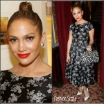 Jennifer Lopez In Dolce & Gabbana  at 'Hamilton' Broadway Musical