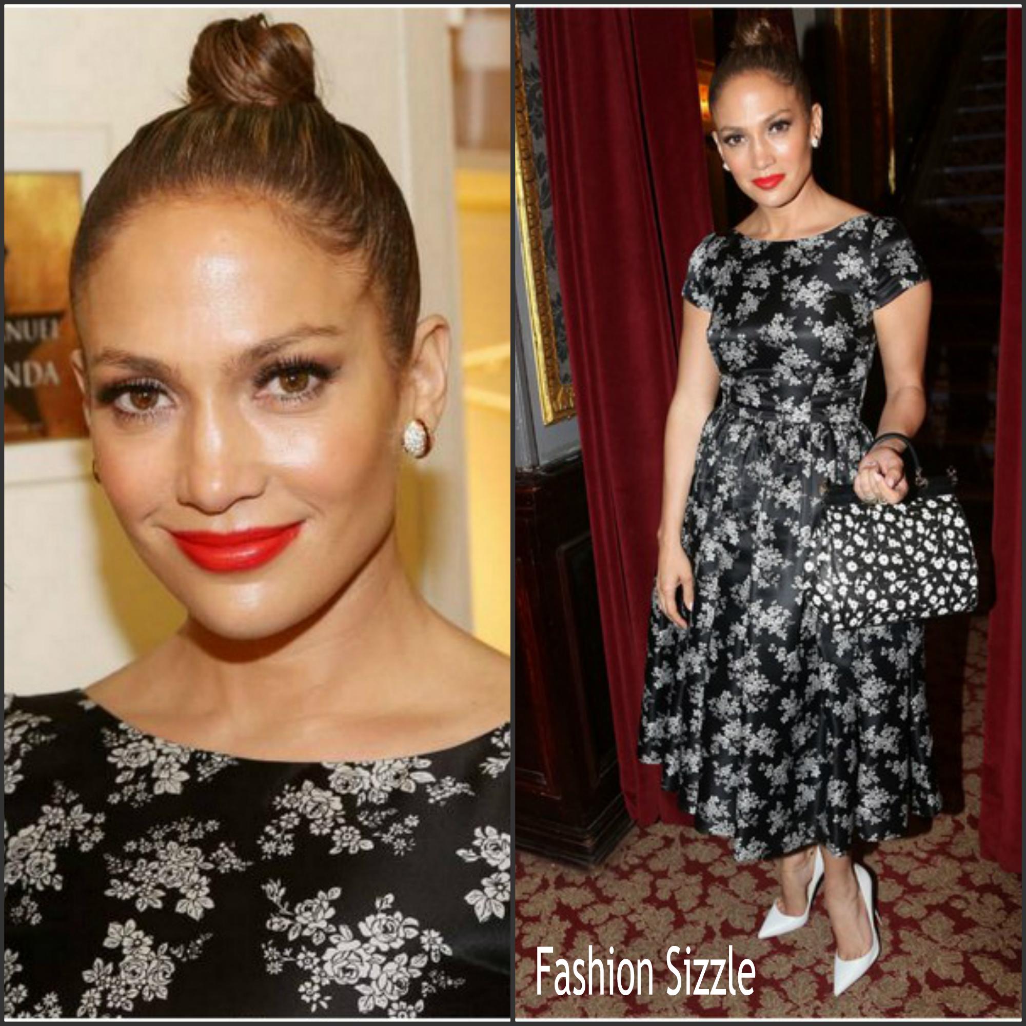 Jennifer Lopez In Dolce & Gabbana  at 'Hamilton' Broadway Musical