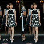 Kate Mara  in Giambattista Valli –  Live! With Kelly & Michael
