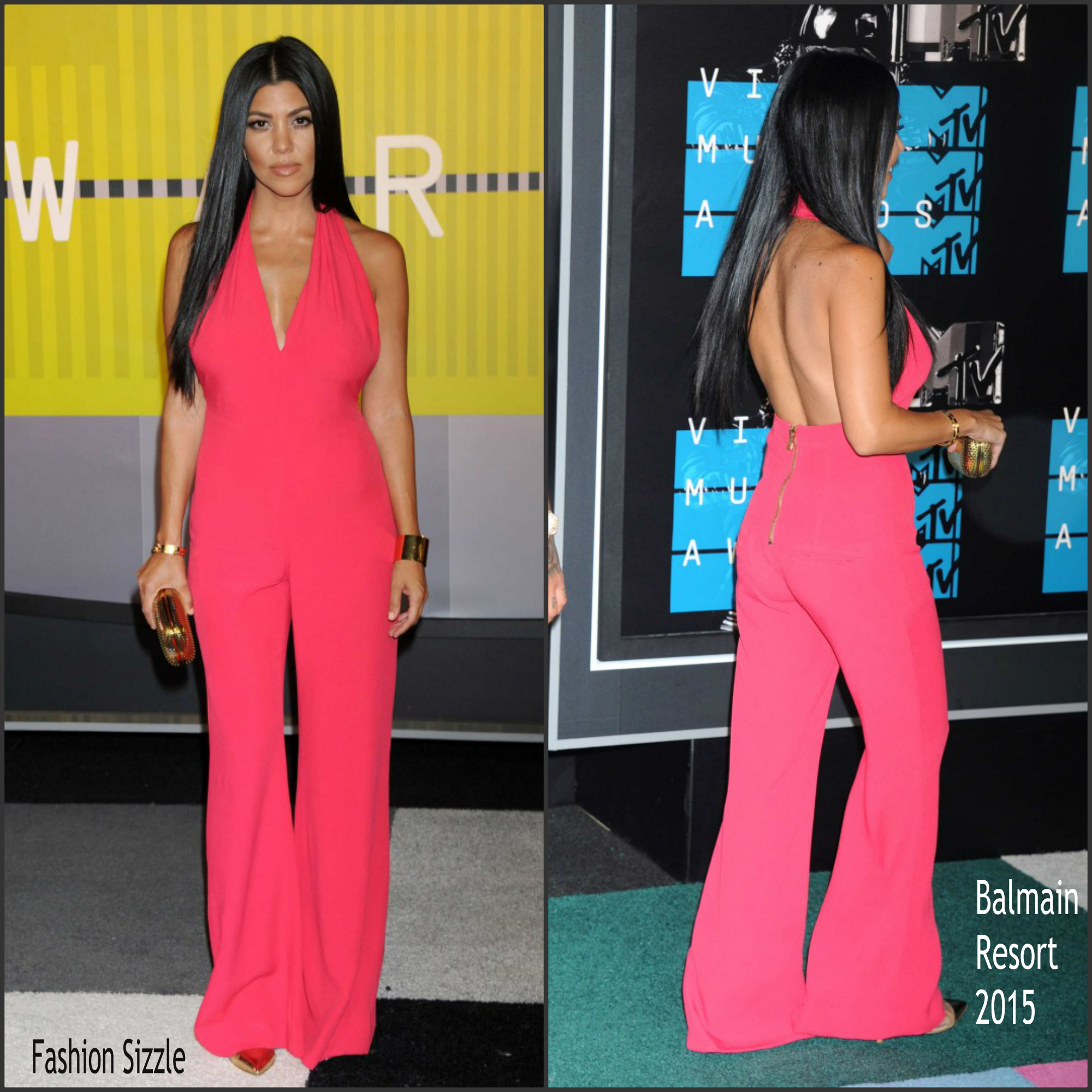 kourtney-kardashian-in-balmain-2015-mtv-video-music-awards