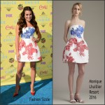 Lea Michele In Monique Lhuillier At the  2015 Teen Choice Awards