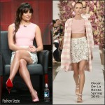 Lea Michele In Oscar de la Renta – 'Scream Queens' 2015 Summer TCA Tour Panel