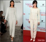 Lena Hall in Zac Posen at the 'Learning to Drive' New York  Premiere