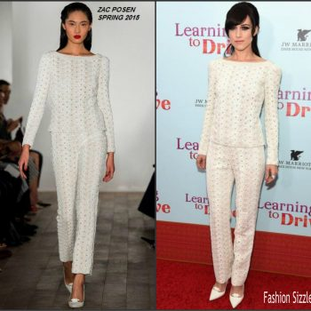 lena-hall-in-zac-posen-at-the-learning-to-drive-New-York-Premiere