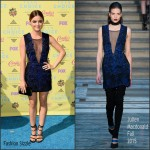 Lucy Hale In Julien Macdonald  At 2015 Teen Choice Awards