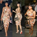 Nicki Minaj  in  Floral Dress – 1Oak in West Hollywood, CA