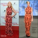 Patricia Clarkson In Naeem Khan At  'Learning To Drive' New York Premiere