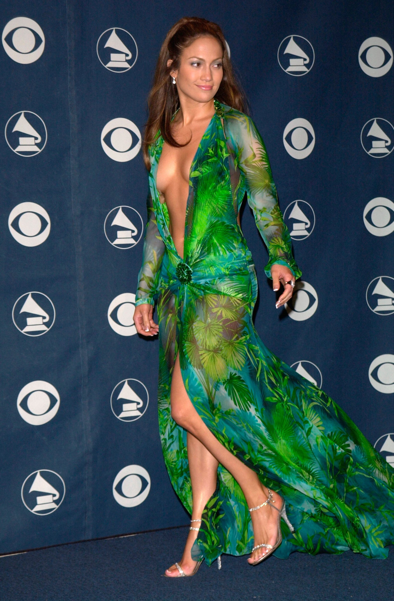Green versace dress
