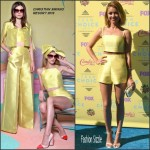 Sarah Hyland In Christian Siriano  At  2015 Teen Choice Awards