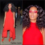 Solange Knowles In Gareth Pugh & Sportmax  At FYF Fest 2015